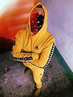 Худи желтый Kappa ч/б