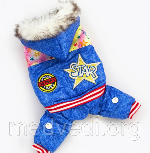 Зимний комбинезон STAR для собак