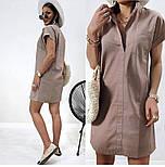 """Жіноче лляне плаття літнє """"Avrora""""  Норма, фото 10"""