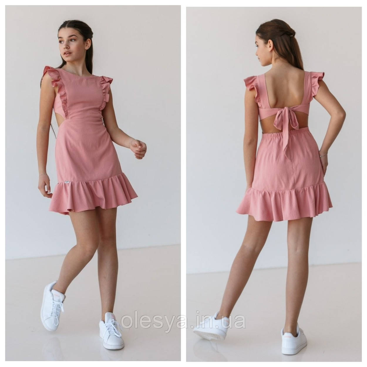 Летнее платье для девочек консуела размеры 146 - 164 тм suzie