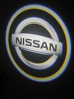 Подсветка дверей авто -Nissan.