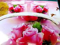 Полуторное постельное белье  Лилия с HD эффектом розовые розы
