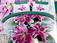 Полуторное постельное белье  Лилия с HD эффектом - лилии