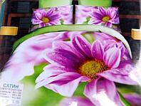 Постельное полуторное белье  Лилия с HD эффектом сиреневые цветы