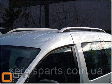 Рейлинги на крышу для Volkswagen Caddy алюминиевые Crown (Кади), фото 2