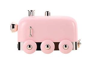 Зволожувач повітря Humidifier Паровоз з підсвічуванням Рожевий