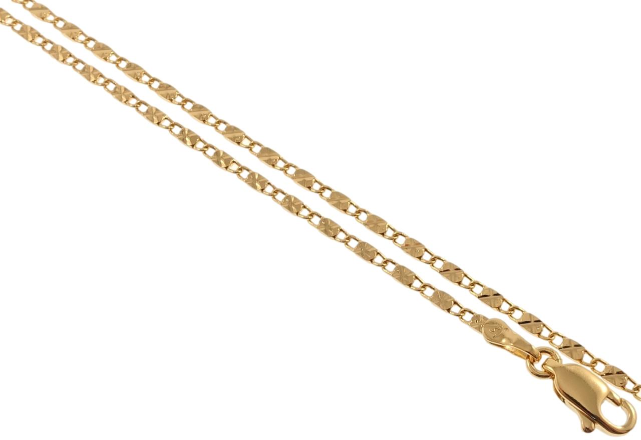 """Ланцюжок ХР Позолота 18К """"Плетіння Морська Ланцюг з візерунком"""" довжина 50см х 2мм"""