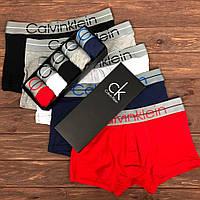 Набор мужских трусов Calvin Klein 003 Чёрный, Серый, Белый, Синий, Красный