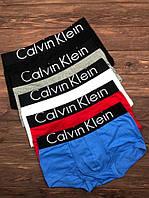 Набор мужских трусов Calvin Klein Black Чёрный, Серый, Белый, Голубой, Красный
