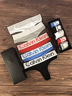 Набор женских трусов Calvin Klein Steel Чёрный, Серый, Белый, Голубой, Красный