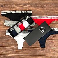 Набор женских трусов Calvin Klein Radiant Чёрный, Серый, Белый, Синий, Красный