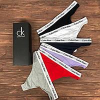 Набор женских трусов Calvin Klein Carousel Чёрный, Пурпурный, Серый, Белый, Синий, Красный