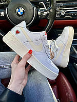 Яркие кроссы унисекс Найк Аир Форс1 Вайт. Женские и мужские кроссовки Nike Air Force 1 White.