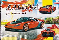 """Альбом для рисования 30 л. на спирали """"Машина красная"""" А-16"""