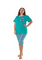 Пижама женская комплект-двойка (бриджи + футболка) ASMA 10118 Батал