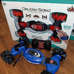 Трюковая машинка на радиоуправлении перевертыш вездеход багги управление рукой (пульт + браслет) / іграшка