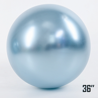 "Шар сюрприз 21"" (52 см) SHOW Brilliance хром Вlue pearl (голубой жемчуг)"