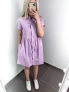 Женское короткое платье свободного кроя на пуговицах, фото 3