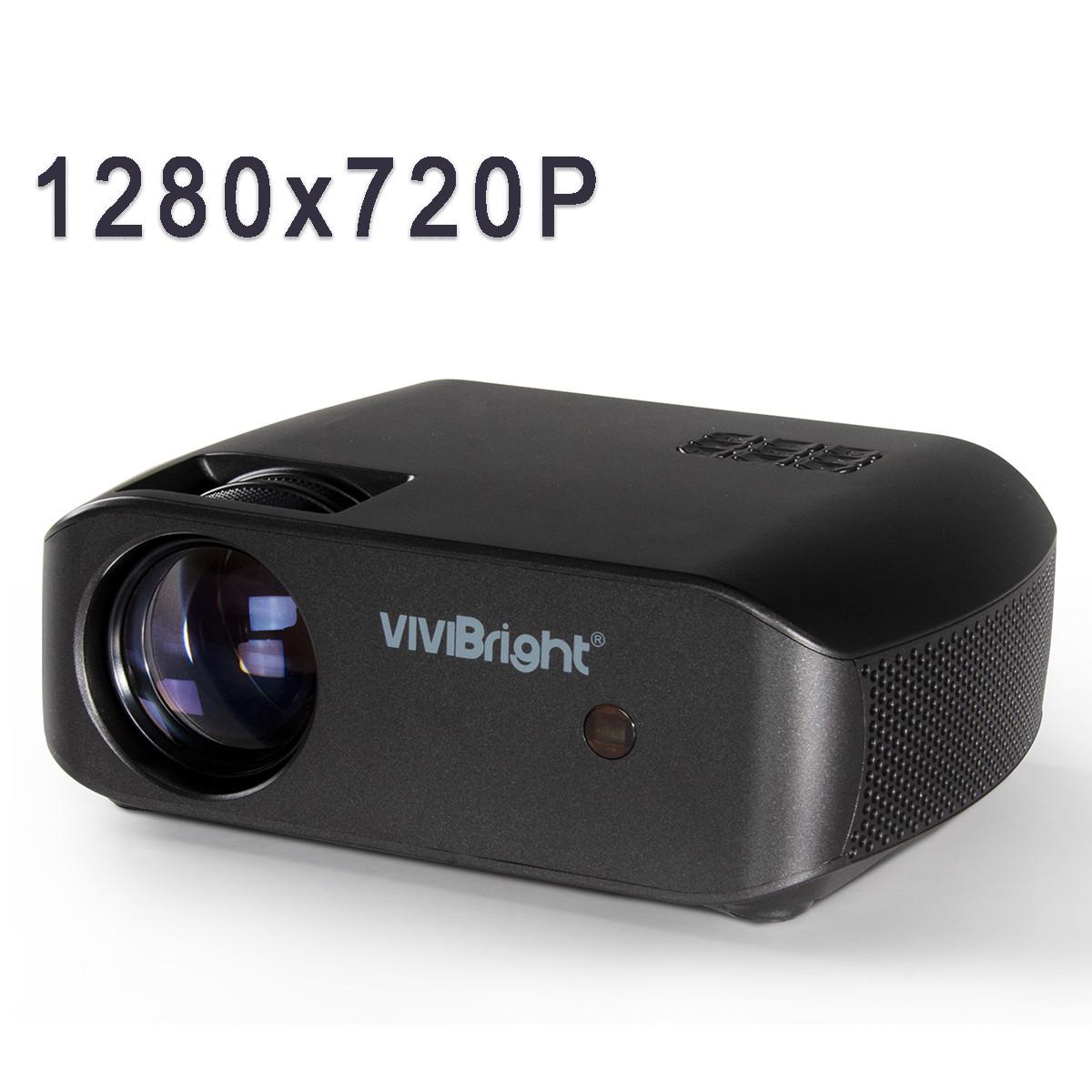 Проектор мультимедійний Wi-light Vivibright F10 портативний HD проектор для будинку і домашнього кінотеатру