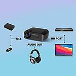 Проектор мультимедійний Wi-light Vivibright F10 портативний HD проектор для будинку і домашнього кінотеатру, фото 4