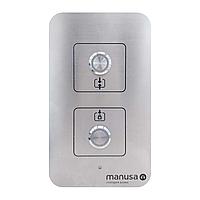 Кнопка для талетних кімнат з двома автоматичними дверьми