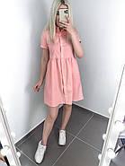 Літній жіночий одяг вільного крою на ґудзиках, довжиною міні, фото 3