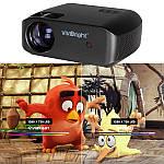 Проектор мультимедійний Wi-light Vivibright F10 портативний HD проектор для будинку і домашнього кінотеатру, фото 6