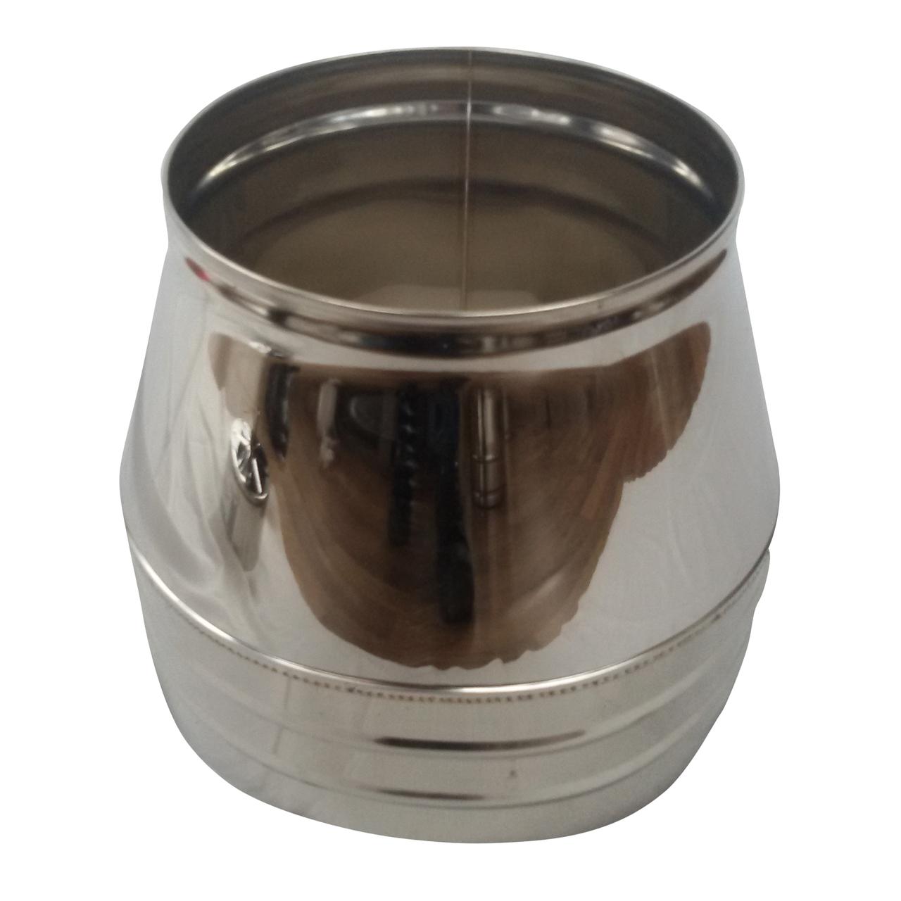 Конус-сендвіч ø300 мм 0,5 мм AISI 304 нержавійка/нержавійка для димоходу димохідний вентиляції Версія-Люкс