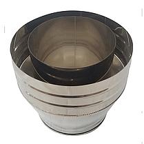 Конус-сэндвич ø120 мм 0,5 мм AISI 304 нержавейка/нержавейка для дымохода дымоходный вентиляции Версия-Люкс, фото 2