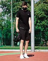 Футболка Андер черная + Шорты Андер черные 0136-0138