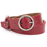 Ремень женский кожаный с круглой пряжкой красный PS-3519 red (125 см)