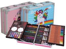 Большой набор для рисования и детского творчества на 145 предметов чемодан