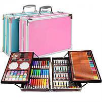 Большой набор для рисования и детского творчества на 145 предметов чемодан, фото 2
