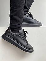 Кроссы мужские на лето А.Маквин. Черные мужские кроссовки Alexander McQueen ALL Black.