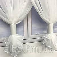 Якісні тюль для будинку спальні вітальні, шифонова тюль для спальні залу будинку, тюль з шифону для кухні вітальні балкона ALBO, фото 2