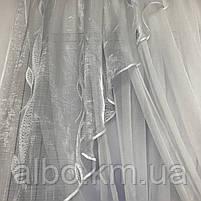 Якісні тюль для будинку спальні вітальні, шифонова тюль для спальні залу будинку, тюль з шифону для кухні вітальні балкона ALBO, фото 7