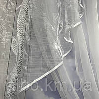 Якісні тюль для будинку спальні вітальні, шифонова тюль для спальні залу будинку, тюль з шифону для кухні вітальні балкона ALBO, фото 4