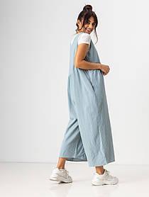 Ультрамодный легкий летний комбинезон свободного кроя с карманами в 4 цветах в размерах S/M,L/XLXL.