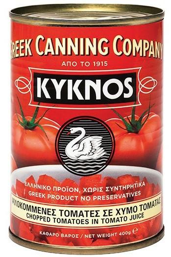 Нарізані томати в томатному соку 400 г - Kyknos