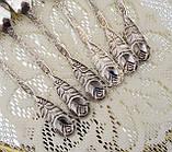 Шесть посеребренных кофейных ложечек с розочкой на ручке, серебрение 100, Германия, AROTAN, фото 7
