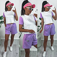 Жіночий літній спортивний костюм 1390 (42-44; 44-46; 46-48) кольори: бузок, салатовий, малина, оранж) СП, фото 1