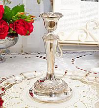 Посеребренный каминный подсвечник, серебрение по меди, винтаж, Англия, Ianthe, Silver Plate