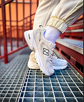 Женские кроссовки New Balance 530 White Cream / Обувь Нью Беланс бежевые повседневные