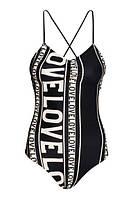 Купальник женский сдельный  цвет черный H&M рамер евро 42 укр 48