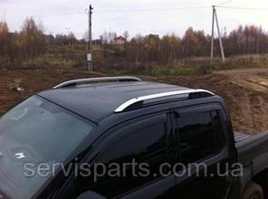 Рейлинги на крышу для Volkswagen Amarok алюминиевые Crown (Амарок), фото 2