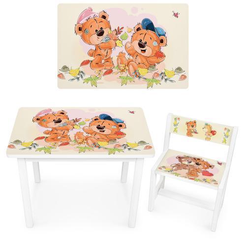 Дитячий столик і стільчик BSM1-44 Ведмедики