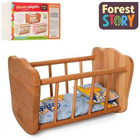 Ліжечко - качалка для ляльки FS 03 дерев'яна