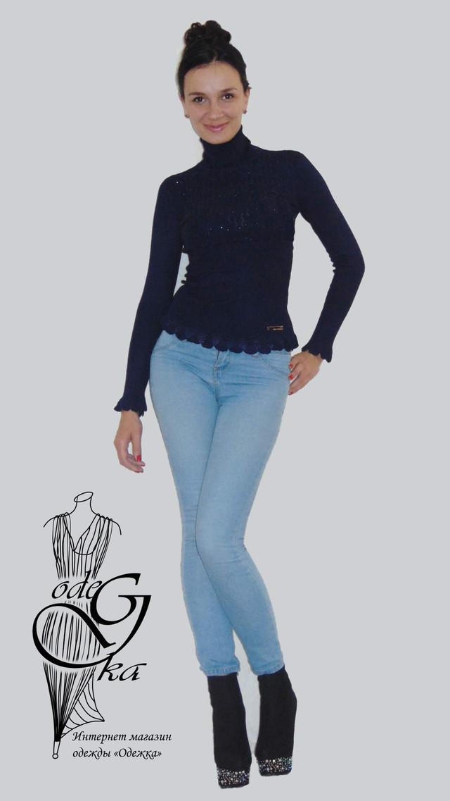 Фото-1 Гольфа женского ажурного с длинным рукавом Светлана SvSlN01