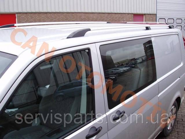Рейлінги на дах для Volkswagen Transporter T5 алюмінієві Crown з пластиковими ніжками(Транспортер)