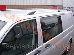 Рейлинги на крышу для Volkswagen Transporter T5 алюминиевые Crown с пластиковыми ножками(Транспортер)